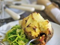 Jacket Potato with Mince Filling recipe