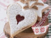Jam Heart Biscuits and Cinnamon Stars recipe