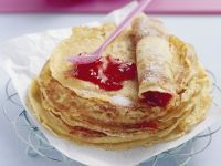 Jam Thin Pancakes recipe