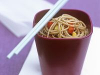Japanese Buckwheat Noodles with Diced Peppers recipe