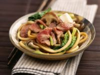 Japanese Noodles with Steak recipe