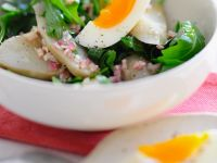 Jerusalem Artichoke Salad with Arugula and Egg recipe