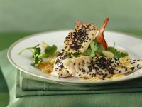 John Dory with Black Sesame Seeds and Potatoes