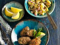 Kafta (Lebanese Kebabs) and Potato Salad recipe