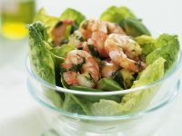 Dressed Prawns with Leaves recipe