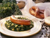 Kale with Potatoes and Sausage recipe