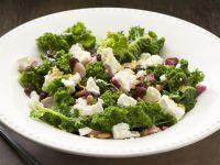 Kale with Shallots, Raisins and Feta Cheese recipe