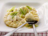 Quark Stuffed Dumplings with Scallions recipe