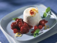 Kefir Pannacotta with Cherry and Redcurrant Compote recipe