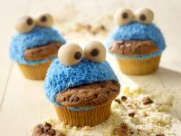 Kids Blue Monster Cupcakes recipe