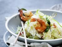 King Prawn and Cucumber Noodle Stir-fry recipe
