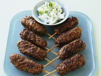 Lamb Koftas with Cucumber Dip recipe