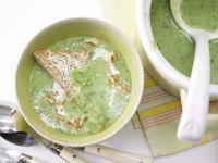 Kohlrabi Soup with Cheese Toast