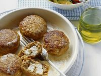 Lamb and Feta Meatballs with Roasted Vegetable Salad recipe