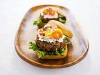 Lamb Burger with Feta and Fresh Herbs recipe