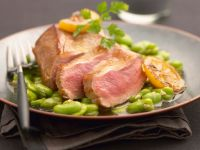 Lamb Cannon with Favas recipe