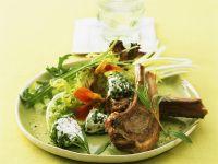 Lamb Chop with Salad recipe