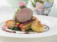 Lamb Chops on Vegetables recipe