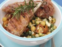 Lamb Chops over Chickpeas recipe