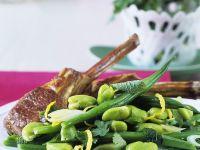 Lamb Chops with Bean Salad recipe