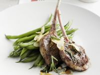Lamb Chops with Green Beans recipe
