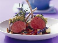 Lamb Chops with Herbs and Ratatouille recipe