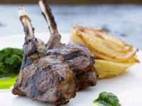 Lamb Chops with Potato and Rosemary Gratin