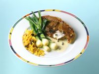 Lamb Chops with Scallions and Curry Rice recipe