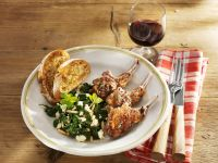 Lamb Chops with Spinach and Feta Salad recipe
