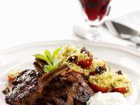 Lamb Chops with Tomato Bulgur recipe