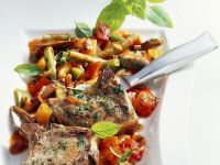 Lamb Chops with Vegetable Ragout recipe