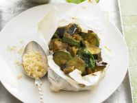 Lamb, Eggplant and Zucchini in Parchment recipe