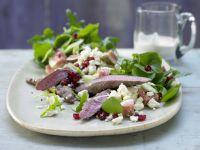 Lamb Fillet, Purslane and Arugula Salad recipe