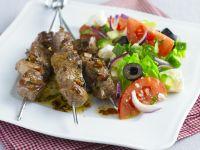 Lamb Kebabs with Green Salad recipe