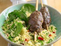 Lamb Kofta with Grain Salad recipe