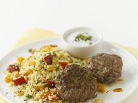 Lamb Koftas with Couscous and Yogurt Sauce recipe