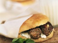 Kofta Flatbreads with Tzatziki recipe