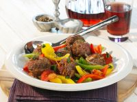 Lamb Meatballs with Bell Peppers recipe