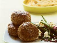 Lamb Meatballs with Green Bean Salad recipe