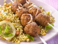 Lamb Meatballs with Wheat Salad