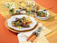 Lamb Medallions with Ratatouille and Potato Gratin recipe