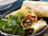Lamb, Pepper and Eggplant Wraps recipe