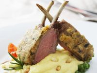 Lamb Rack with Pomme Puree recipe