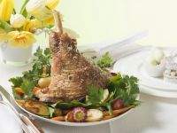 Lamb Shank with Parsley Potatoes and Carrots recipe