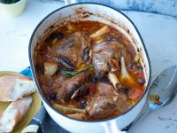 Lamb Shanks with Olives and Artichokes recipe