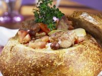 Baked Meat in Bread Bowl recipe