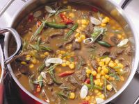 Lamb Stew with Green Beans and Corn recipe