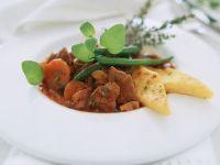 Lamb Stew with Polenta Diamonds recipe