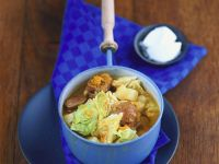 Lamb Stew with Savoy Cabbage recipe