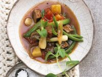 Lamb Stew with Scallions and Green Beans recipe